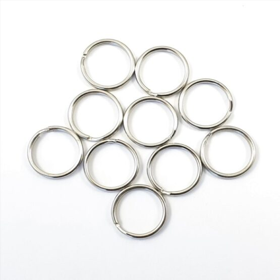"""Split Ring 15.875mm (5/8"""") Nickel Plate 10 Pack"""