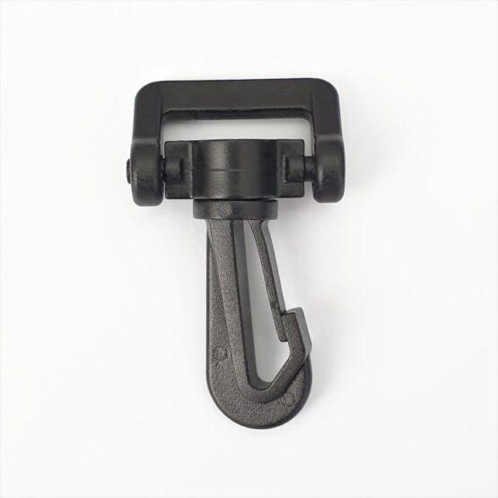 "Swivel Snap Hook Plastic 19mm (3/4"") Black 2 Pack"