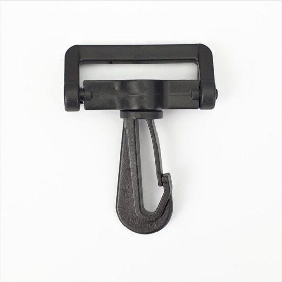 "Swivel Snap Hook Plastic 38mm (1-1/2"") Black 2 Pack"
