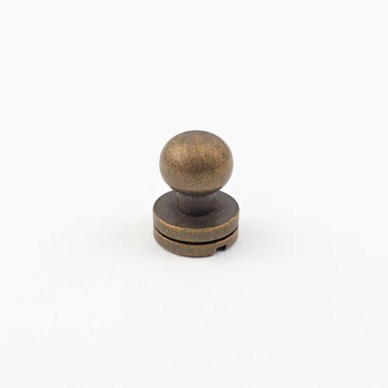 "Button Stud Screwback 7.1mm (9/32"") Antique Brass Plate"