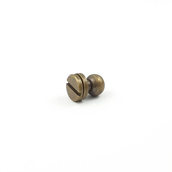 "Button Stud Screwback 7.1mm (9/32"") Antique Brass Plate"