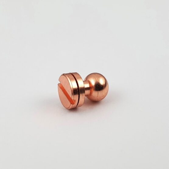 "Button Stud Screwback 7.1mm (9/32"") Copper Plate."