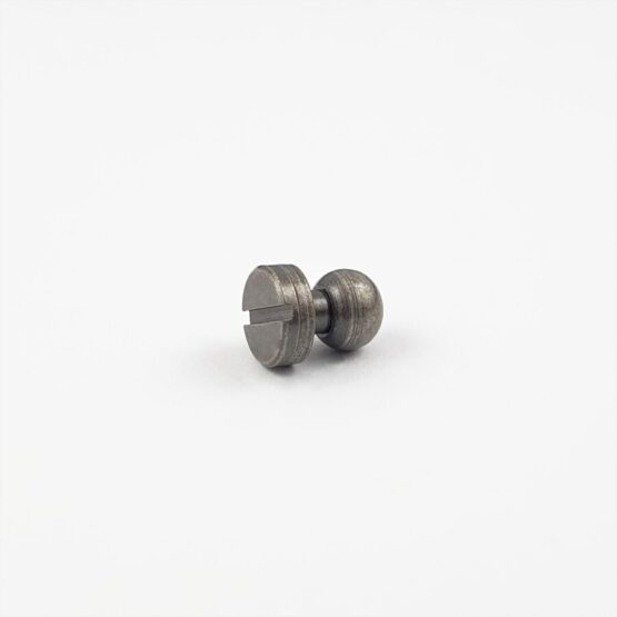 "Button Stud Screwback 7.9mm (5/16"") Antique Nickel Plate"
