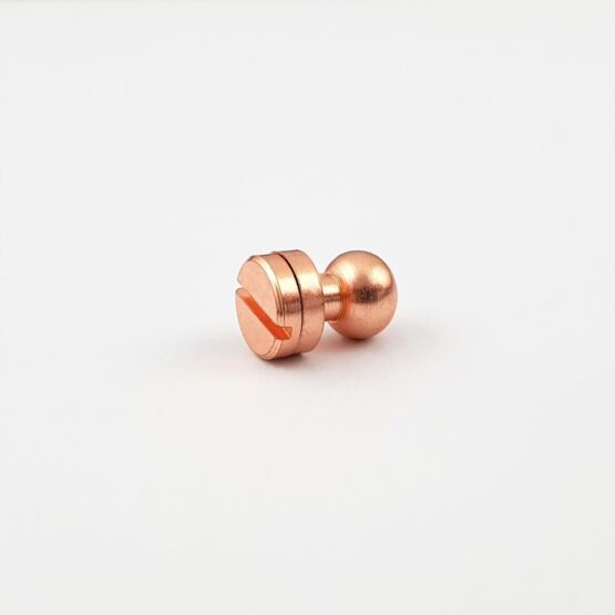 "Button Stud Screwback 7.9mm (5/16"") Copper Plate"
