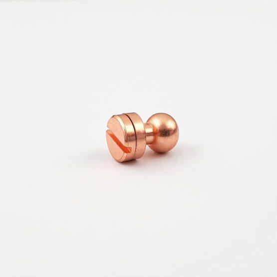 """Button Stud Screwback 7.9mm (5/16"""") Copper Plate"""