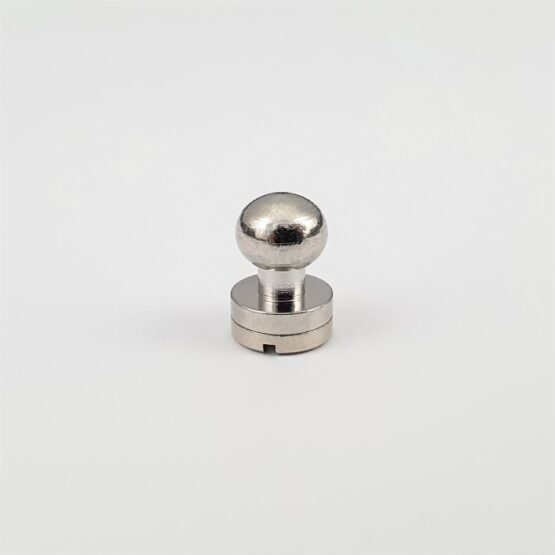 "Button Stud Screwback 7.9mm (5/16"") Nickel Plate."