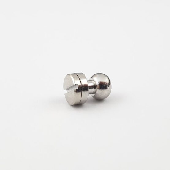 "Button Stud Screwback 7.9mm (5/16"") Nickel Plate"