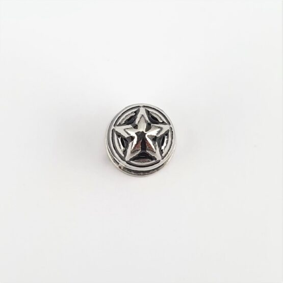 "Button Stud Screwback 7.9mm (5/16"") Star Theme"