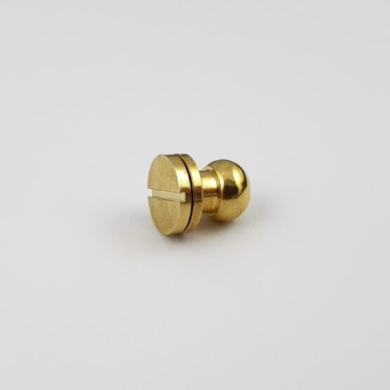 "Button Stud Screwback 9.5mm (3/8"") Brass Plate"