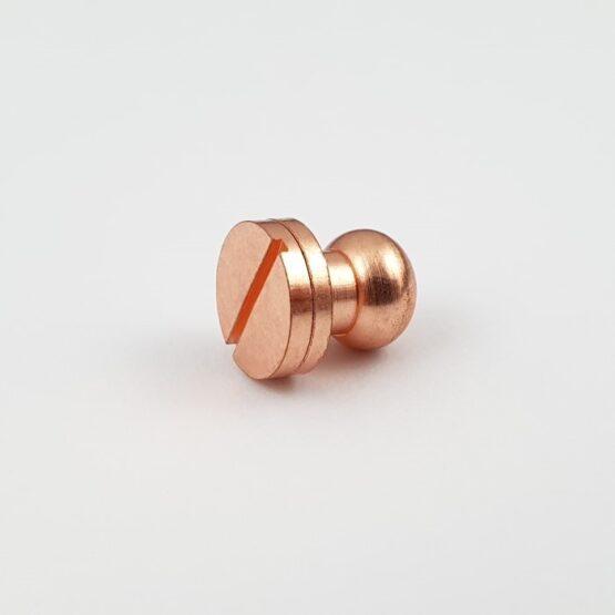 """Button Stud Screwback 9.5mm (3/8"""") Copper Plate"""