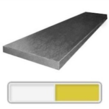 440C stainless steel bar measuring 7.3 x 50 x 915 mm