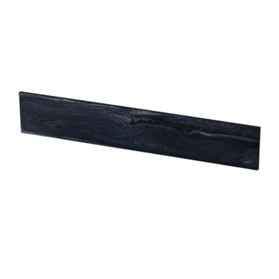 Gem black coloured Juma slab with a width of 50 mm side angle