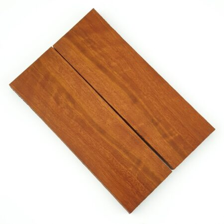 Wollybutt handle scales each measuring approximately 10 x 45 x 140 mm