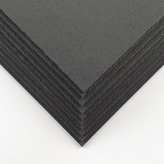 """Kydex set containing 10 sheets of 2 mm (0.080"""") thick black kydex"""