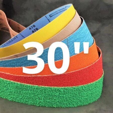 """25 x 762mm (1 x 30"""") Abrasive Belts"""