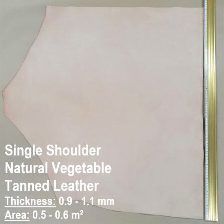 A single shoulder of natural vegetable tanned leather 0.9 - 1.1 mm thick