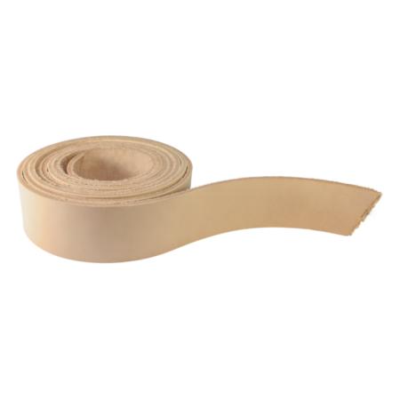 Natural vegetable tanned leather belt blank
