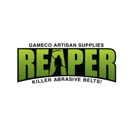 Reaper brand name in bold light green capital letters