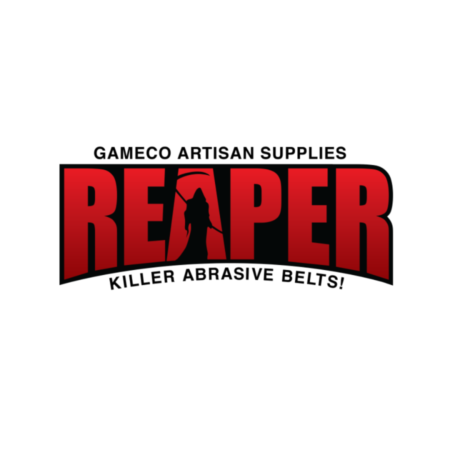 Reaper brand name in bold red capital letters