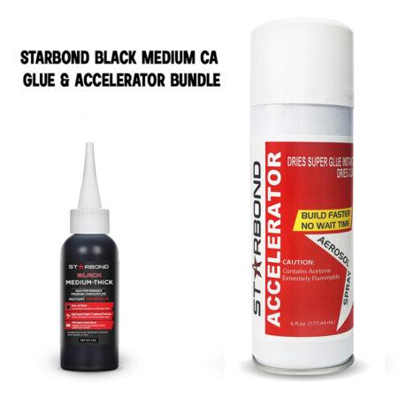 Contents of the Starbond black medium CA glue & accelerator bundle.